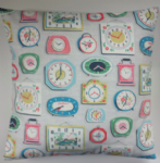 "Cushion Cover in Cath Kidston Clocks Grey 14"" 16"" 18"" 20"""